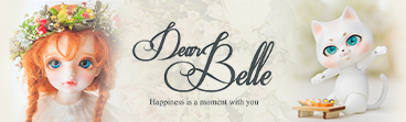 """DearBelle"" logo and images of major products."