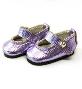 """Strap shoes pearl violet  30mm"" of the ""GLIB"", image 2."