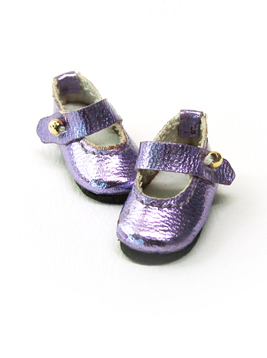 """Strap shoes pearl violet  30mm"" of the ""GLIB"", image 3."