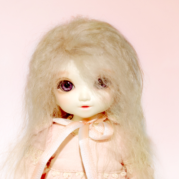"A thumbnail of ""LFW-33 Blond(Mohair) for LittleFee"""