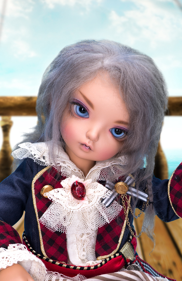 "A thumbnail of ""LFW-29 Gray(Mohair) for LittleFee"""