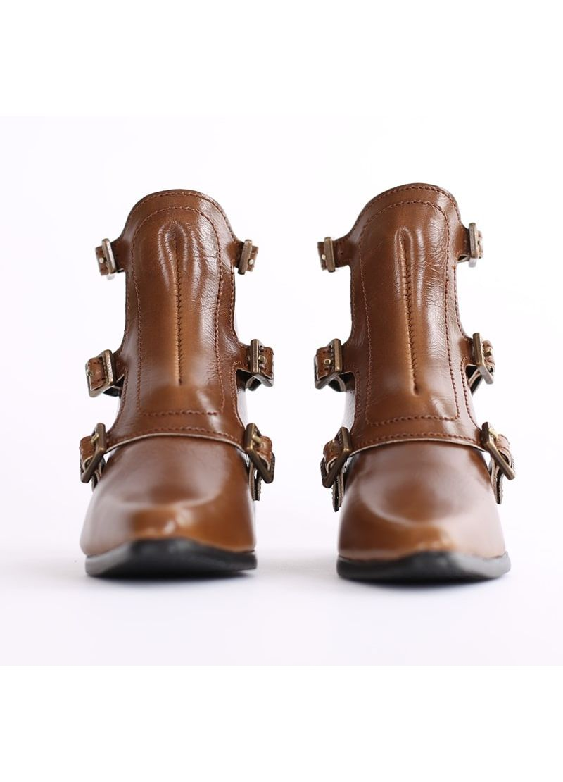 """SD_Strap Boots (Brown)"" of the ""SartoriaJ"", main image."