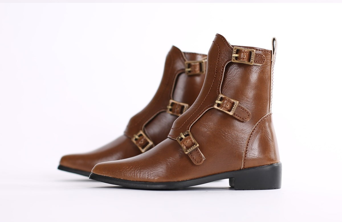 """SD_Strap Boots (Brown)"" of the ""SartoriaJ"", image 5."
