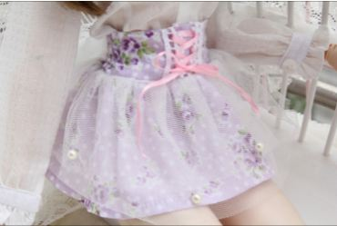 "A thumbnail of ""Purple Little Rose Pearl Skirt DDL 1/3"""