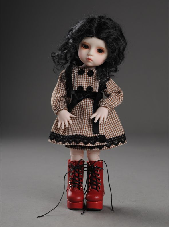 """Dear Doll Size - Platform Basic Boots (Red)"" of the ""DOLL MORE"", main image."