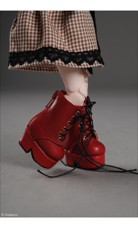 """Dear Doll Size - Platform Basic Boots (Red)"" of the ""DOLL MORE"", image 2."