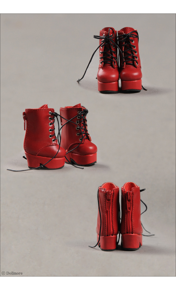 """Dear Doll Size - Platform Basic Boots (Red)"" of the ""DOLL MORE"", image 3."