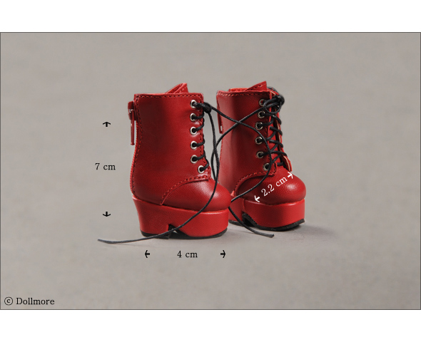 """Dear Doll Size - Platform Basic Boots (Red)"" of the ""DOLL MORE"", image 4."