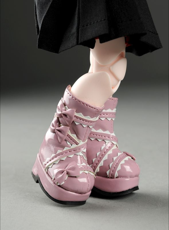 """Dear Doll Size - French Ribbon Boots (Pink)"" of the ""DOLL MORE"", main image."