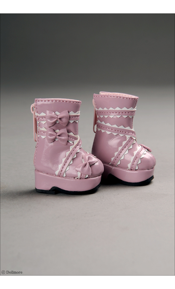 """Dear Doll Size - French Ribbon Boots (Pink)"" of the ""DOLL MORE"", image 2."