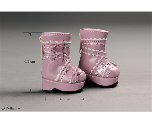 """Dear Doll Size - French Ribbon Boots (Pink)"" of the ""DOLL MORE"", image 3."