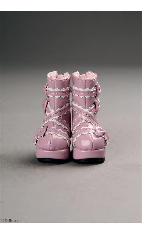 """Dear Doll Size - French Ribbon Boots (Pink)"" of the ""DOLL MORE"", image 4."