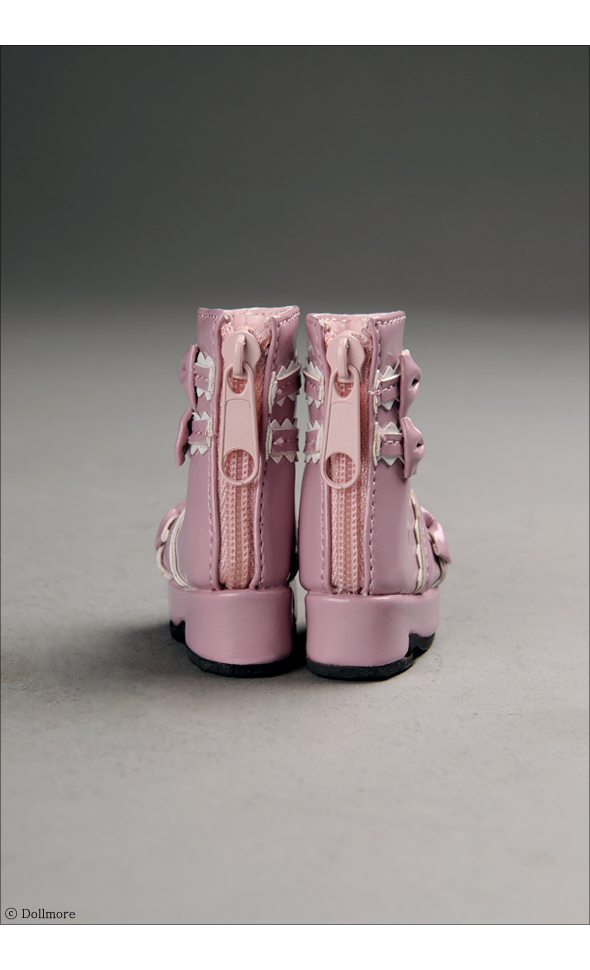 """Dear Doll Size - French Ribbon Boots (Pink)"" of the ""DOLL MORE"", image 5."