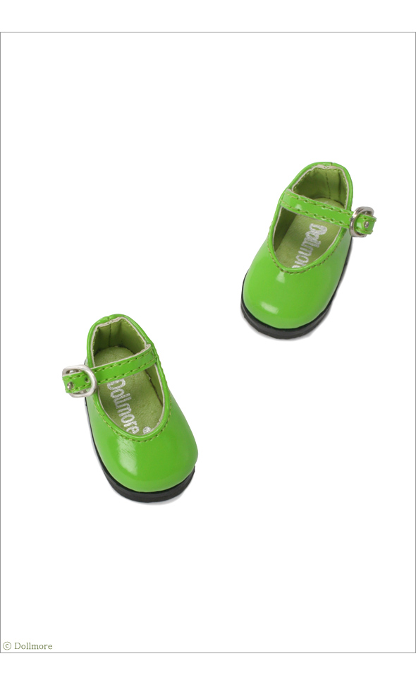 """Dear Doll Size - Basic Girl Shoes (Green Enamel)"" of the ""DOLL MORE"", main image."