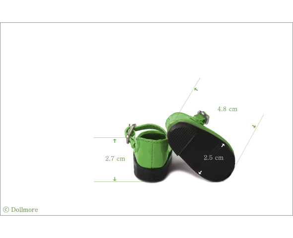 """Dear Doll Size - Basic Girl Shoes (Green Enamel)"" of the ""DOLL MORE"", image 4."