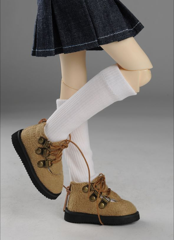 """MSD - Messo Shoes (Brown)"" of the ""DOLL MORE"", main image."